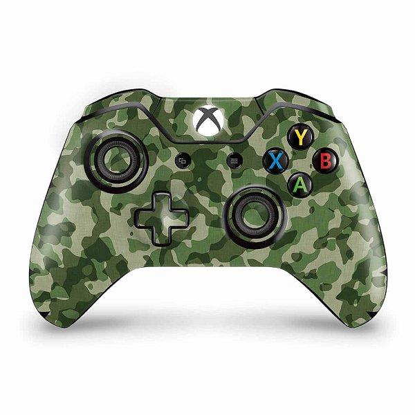 Skin Xbox One Fat Controle - Camuflagem Verde