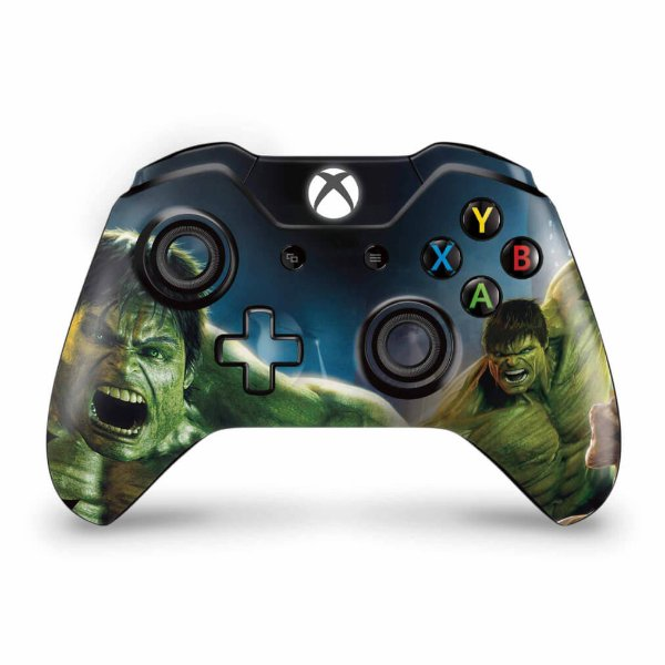 Skin Xbox One Fat Controle - Hulk