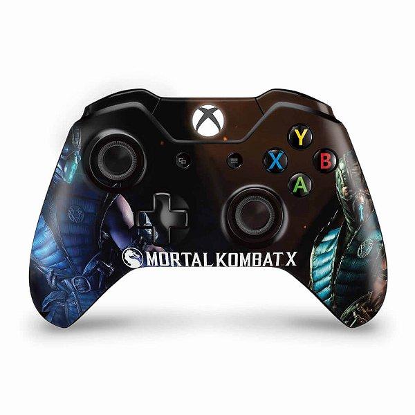 Skin Xbox One Fat Controle - Mortal Kombat X - Subzero