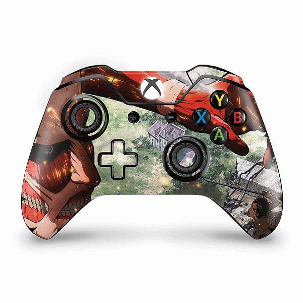 Skin Xbox One Fat Controle - Attack on Titan #B