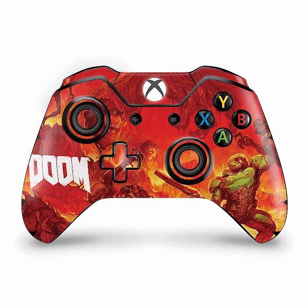 Skin Xbox One Fat Controle - Doom