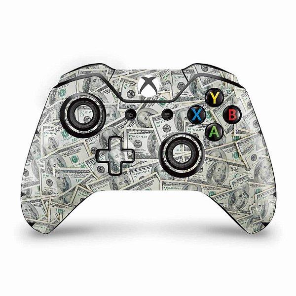 Skin Xbox One Fat Controle - Dollar Money Dinheiro