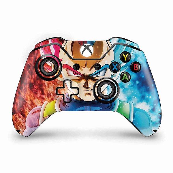 Skin Xbox One Fat Controle - Dragon Ball Super Vegeta SSJ GOD