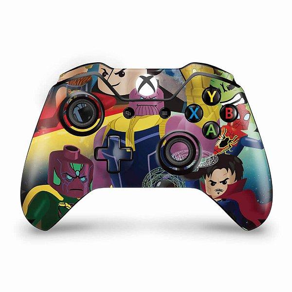 Skin Xbox One Fat Controle - Lego Avengers Vingadores
