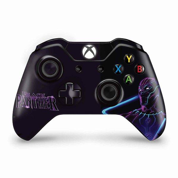 Skin Xbox One Fat Controle - Pantera Negra
