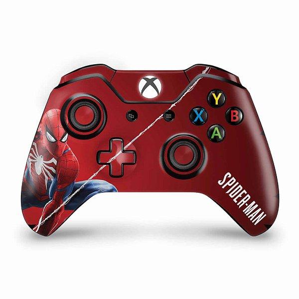 Skin Xbox One Fat Controle - Homem Aranha Spider-man