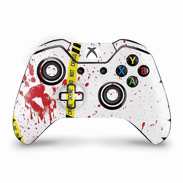 Skin Xbox One Fat Controle - Cena de Crime Scene