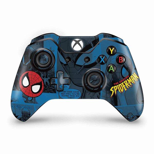 Skin Xbox One Fat Controle - Homem-Aranha Spider-Man Comics