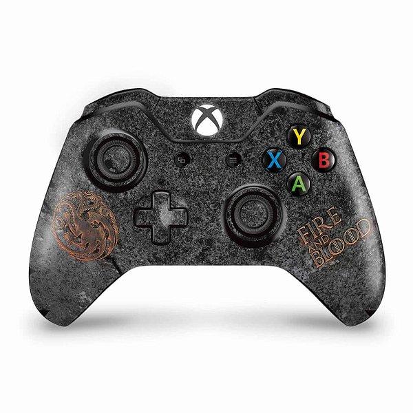 Skin Xbox One Fat Controle - Game of Thrones Targaryen