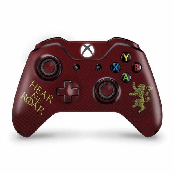 Skin Xbox One Fat Controle - Game Of Thrones Lannister