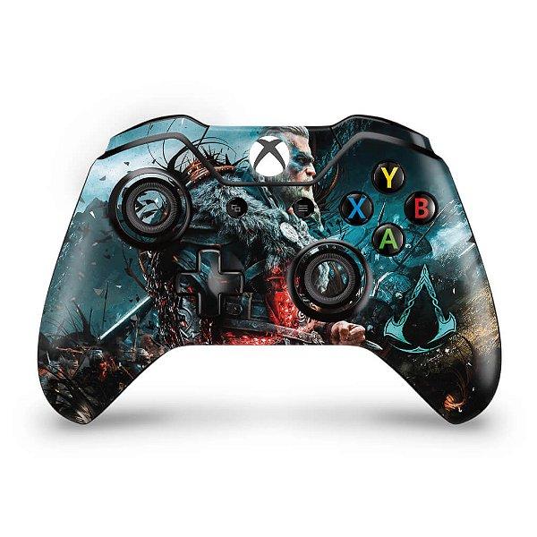 Skin Xbox One Fat Controle - Assassin's Creed Valhalla