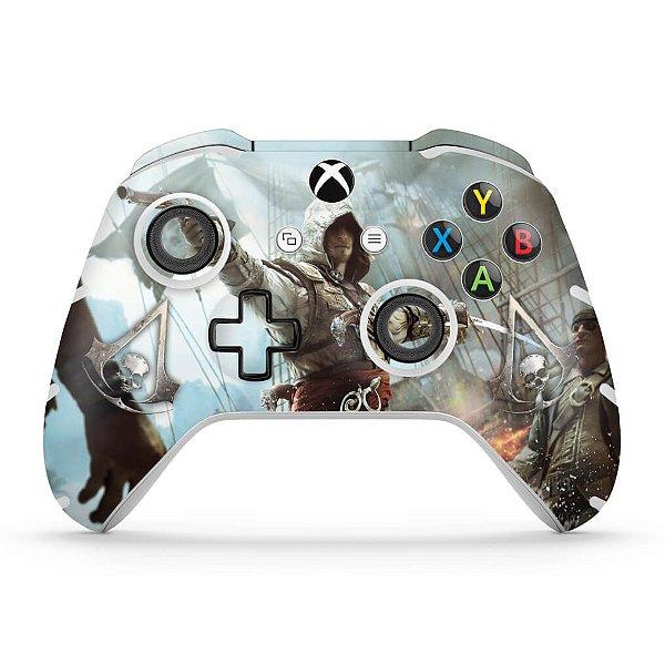 Skin Xbox One Slim X Controle - Assassins Creed Black Flag