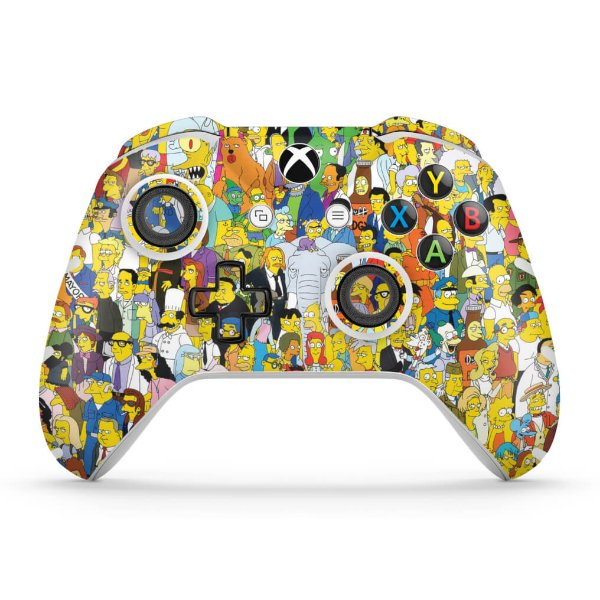 Skin Xbox One Slim X Controle - The Simpsons