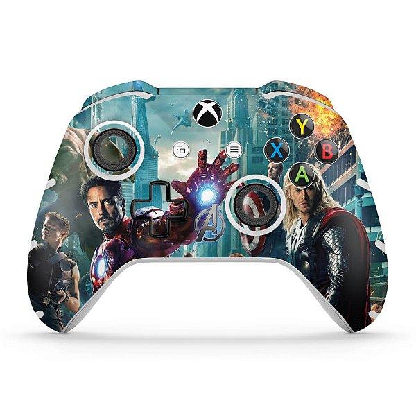 Skin Xbox One Slim X Controle - The Avengers - Os Vingadores