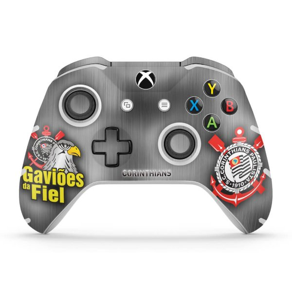 Skin Xbox One Slim X Controle - Corinthians