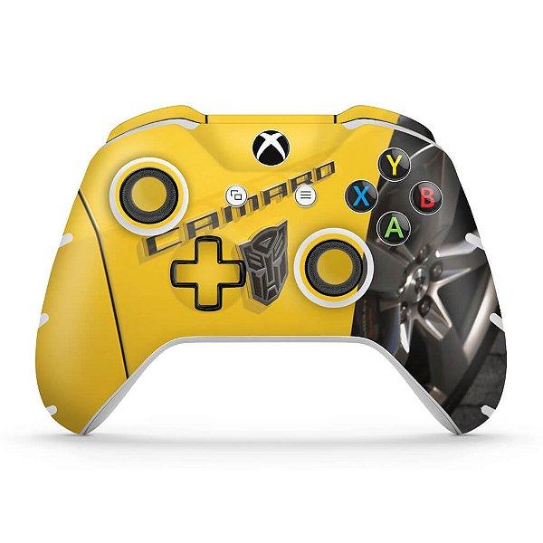 Skin Xbox One Slim X Controle - Camaro - Transformers