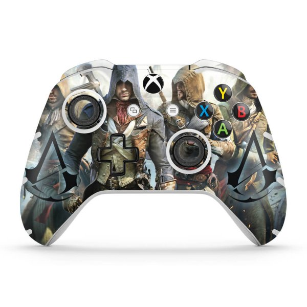 Skin Xbox One Slim X Controle - Assassins Creed Unity