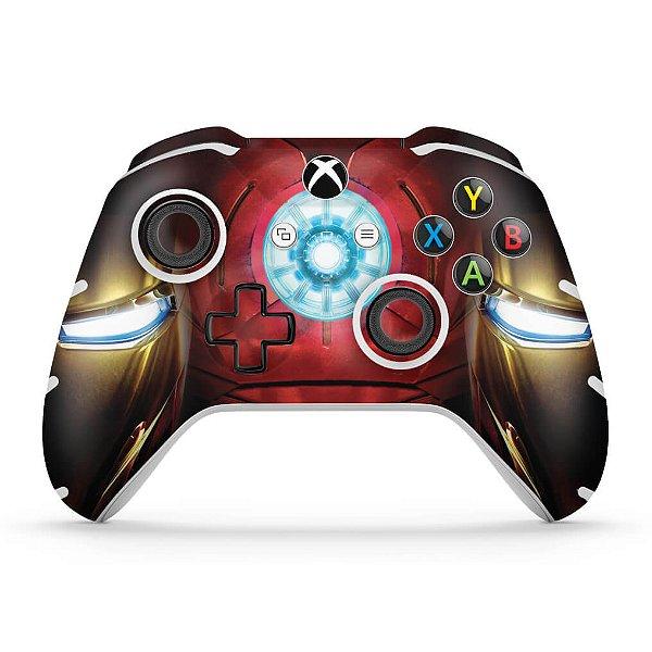 Skin Xbox One Slim X Controle - Iron Man - Homem de Ferro