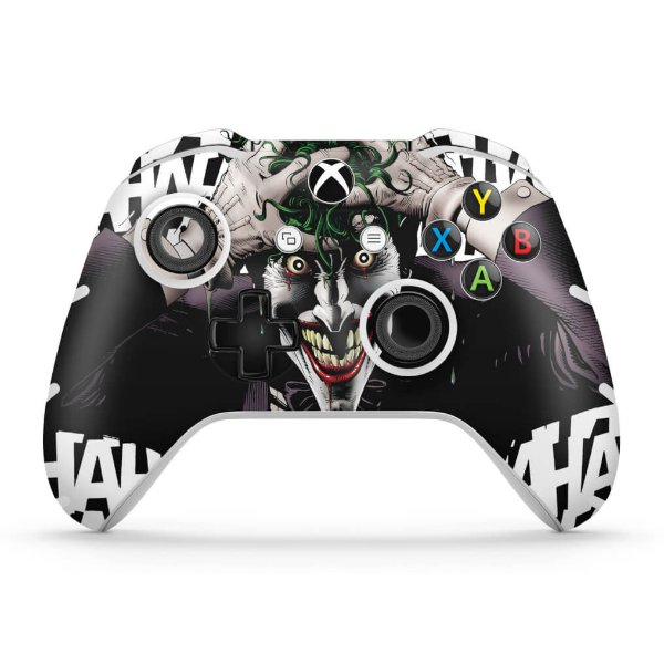 Skin Xbox One Slim X Controle - Joker Coringa Batman