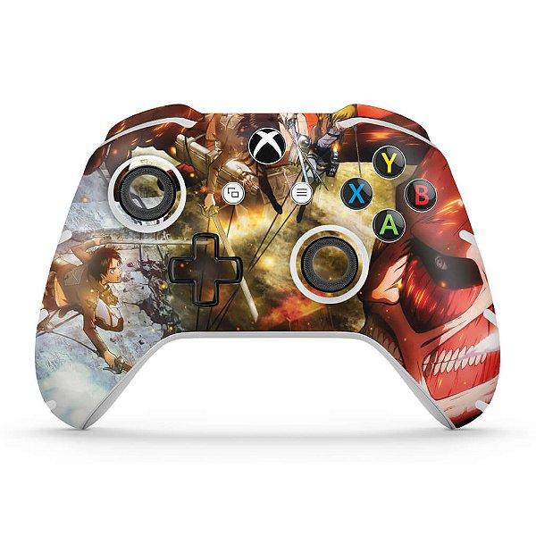 Skin Xbox One Slim X Controle - Attack on Titan #A