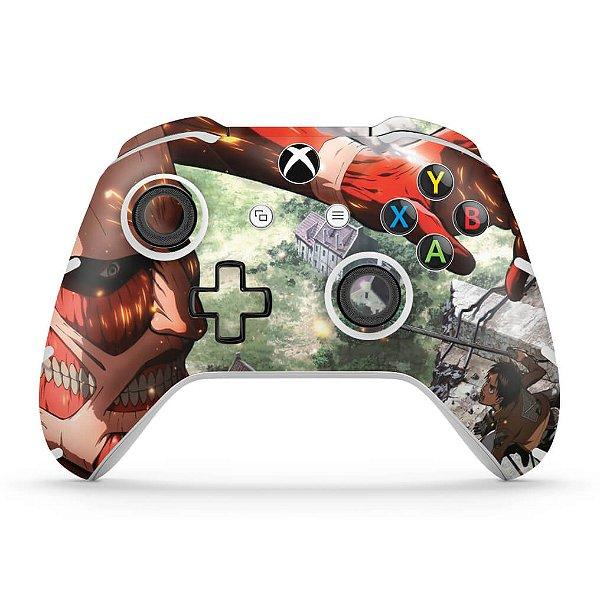 Skin Xbox One Slim X Controle - Attack on Titan #B