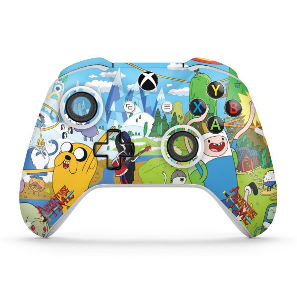 Skin Xbox One Slim X Controle - Hora de Aventura