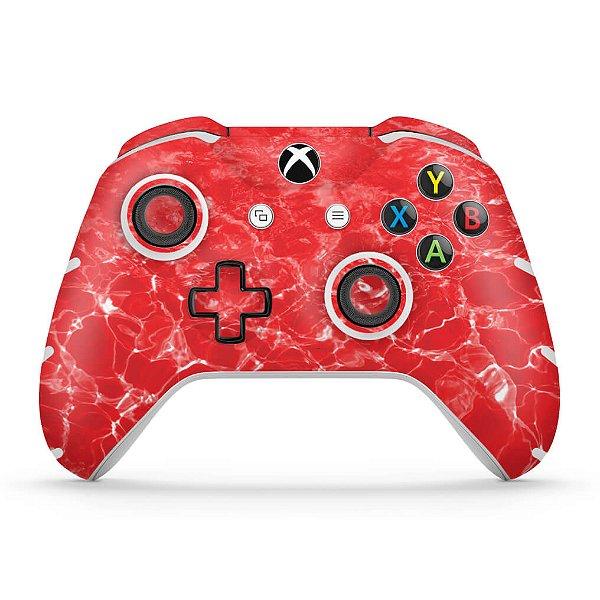 Skin Xbox One Slim X Controle - Aquático Água Vermelha