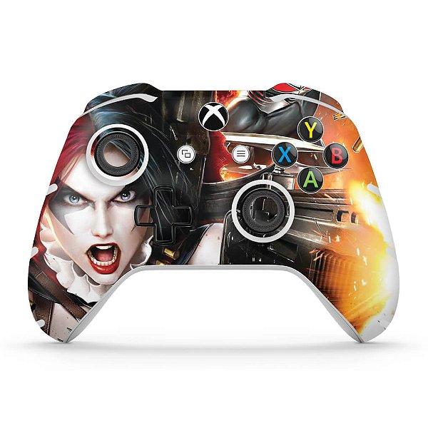 Skin Xbox One Slim X Controle - Arlequina Harley Quinn #B