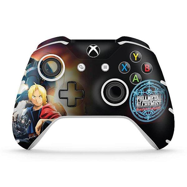 Skin Xbox One Slim X Controle - Fullmetal Alchemist: Brotherhood