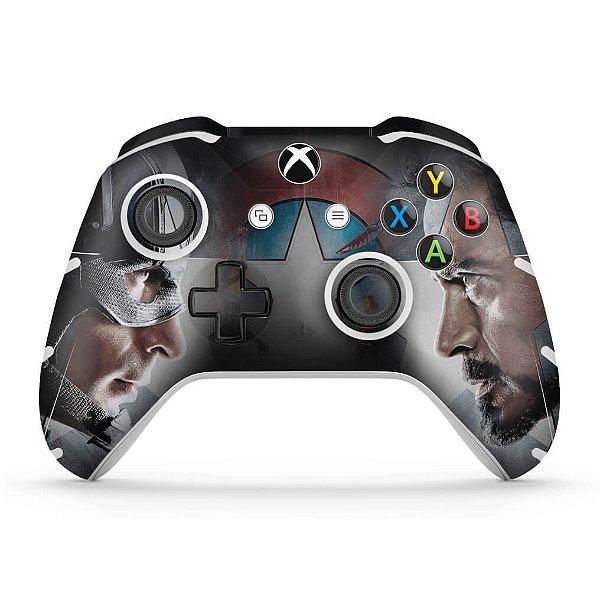 Skin Xbox One Slim X Controle - Capitão America - Guerra Civil