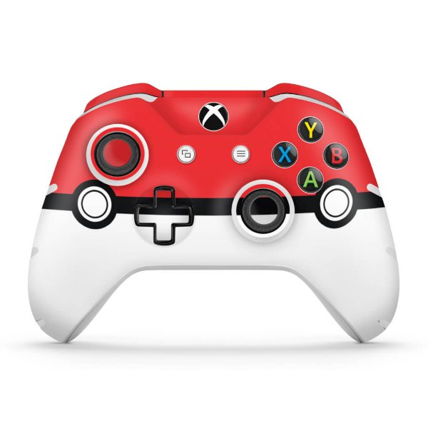 Skin Xbox One Slim X Controle - Pokemon Pokebola