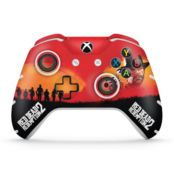 Skin Xbox One Slim X Controle - Red Dead Redemption 2