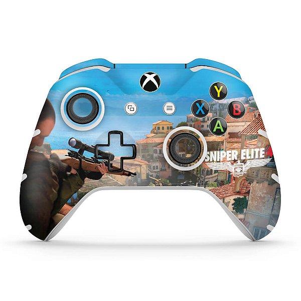 Skin Xbox One Slim X Controle - Sniper Elite 4