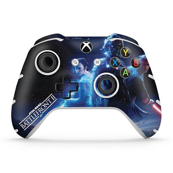 Skin Xbox One Slim X Controle - Star Wars - Battlefront 2