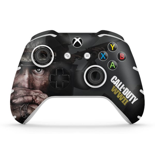 Skin Xbox One Slim X Controle - Call of Duty WW2