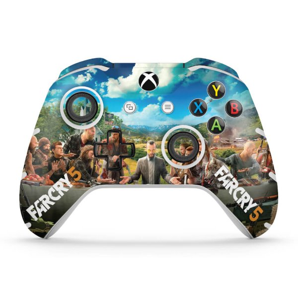 Skin Xbox One Slim X Controle - Far Cry 5