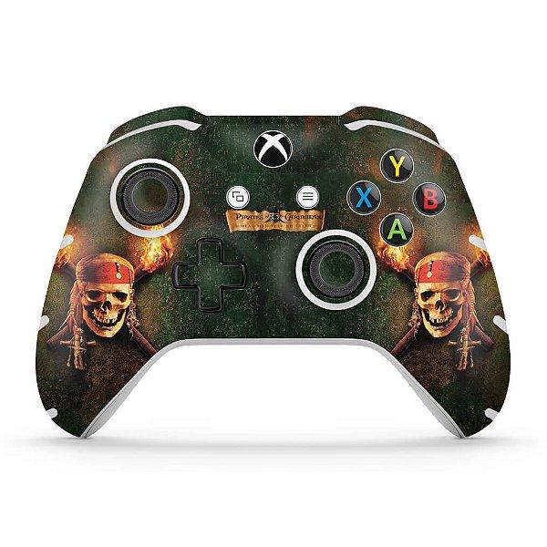 Skin Xbox One Slim X Controle - Piratas do Caribe