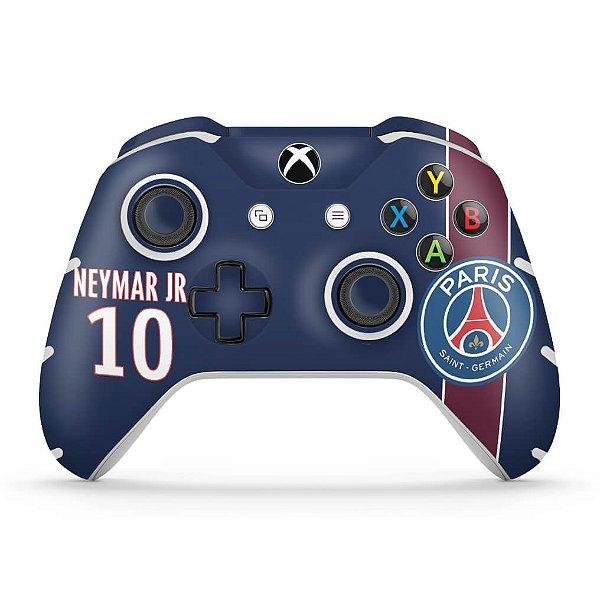 Skin Xbox One Slim X Controle - Paris Saint Germain Neymar Jr PSG