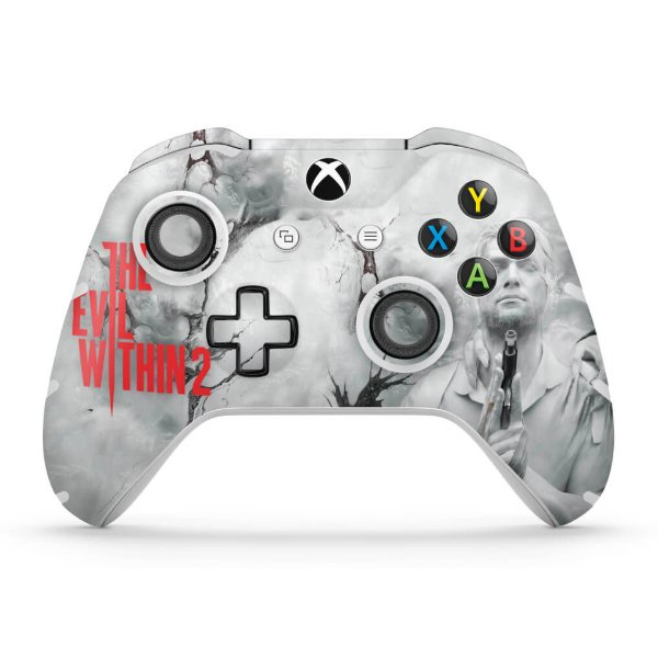 Skin Xbox One Slim X Controle - The Evil Within 2