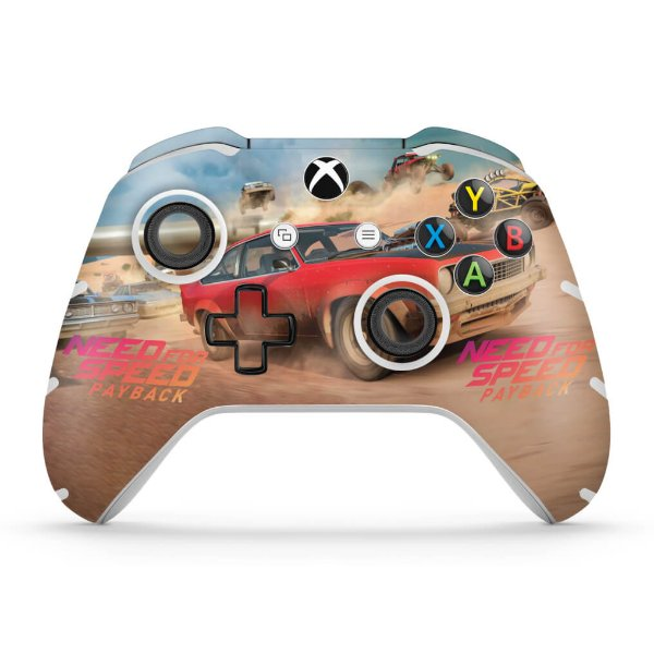 Skin Xbox One Slim X Controle - Need For Speed Payback