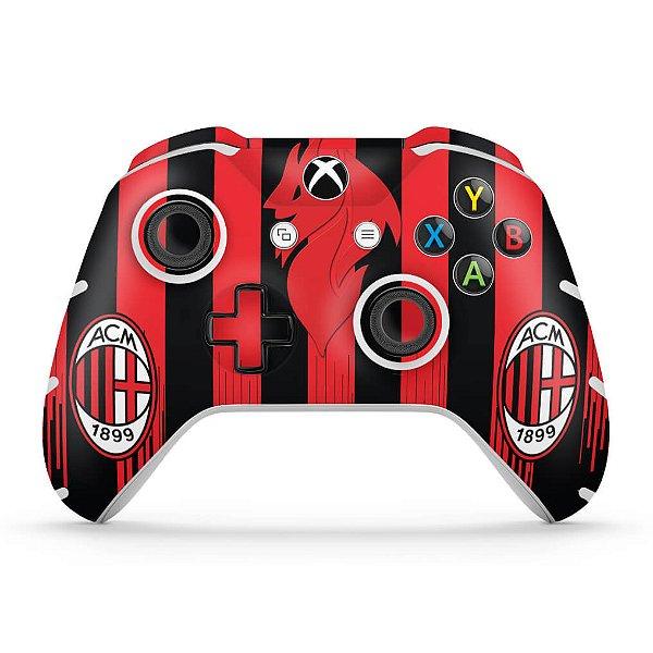 Skin Xbox One Slim X Controle - AC Milan