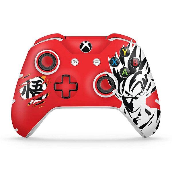 Skin Xbox One Slim X Controle - Dragon Ball Goku Kaiô