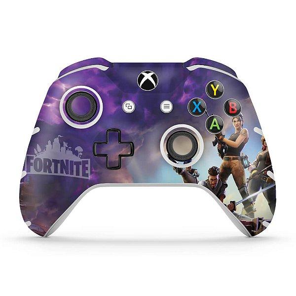 Skin Xbox One Slim X Controle - Fortnite Battle Royale