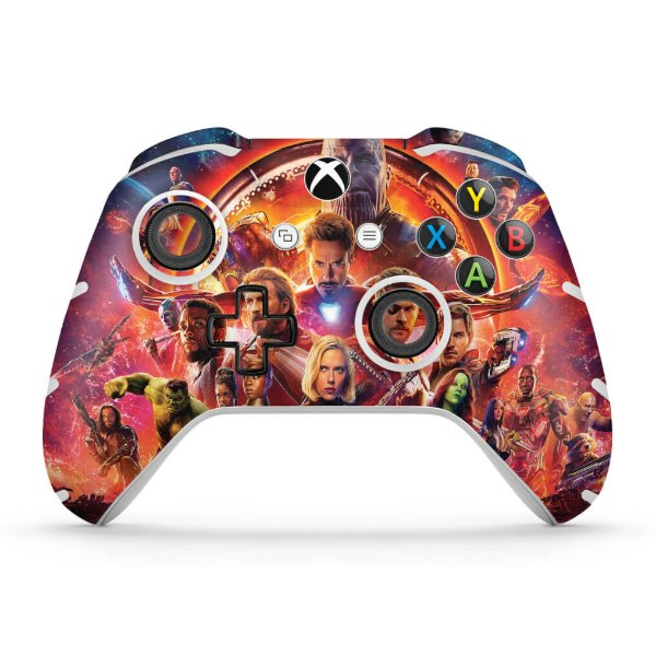 Skin Xbox One Slim X Controle - Os Vingadores: Guerra Infinita