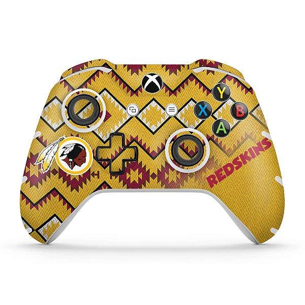 Skin Xbox One Slim X Controle - Washington Redskins NFL