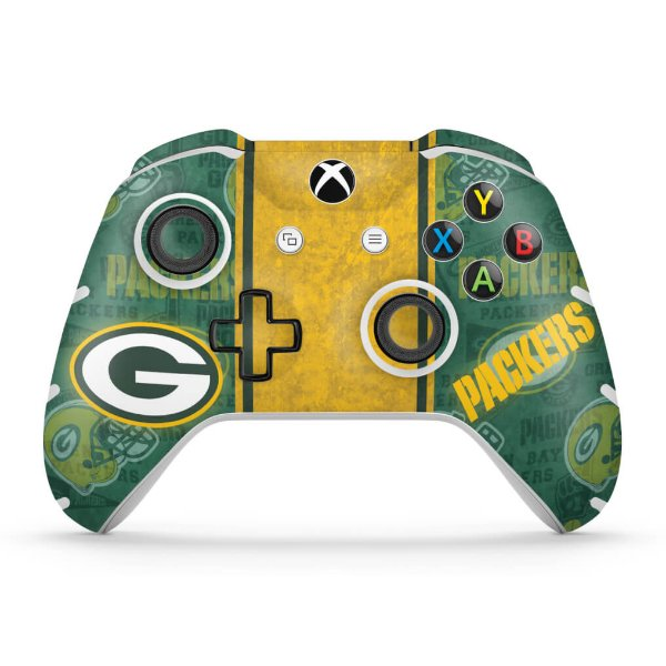 Skin Xbox One Slim X Controle - Green Bay Packers NFL