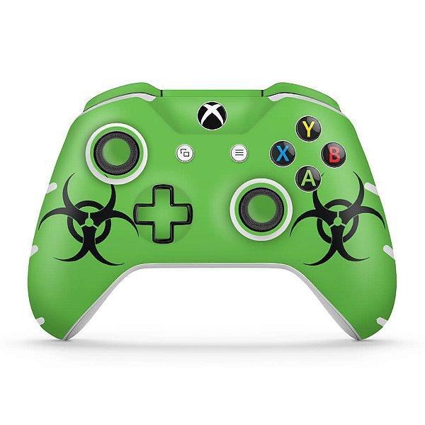 Skin Xbox One Slim X Controle - Biohazard Radioativo