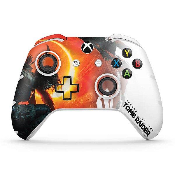Skin Xbox One Slim X Controle - Shadow Of The Tomb Raider