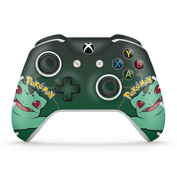Skin Xbox One Slim X Controle - Pokemon Bulbasaur