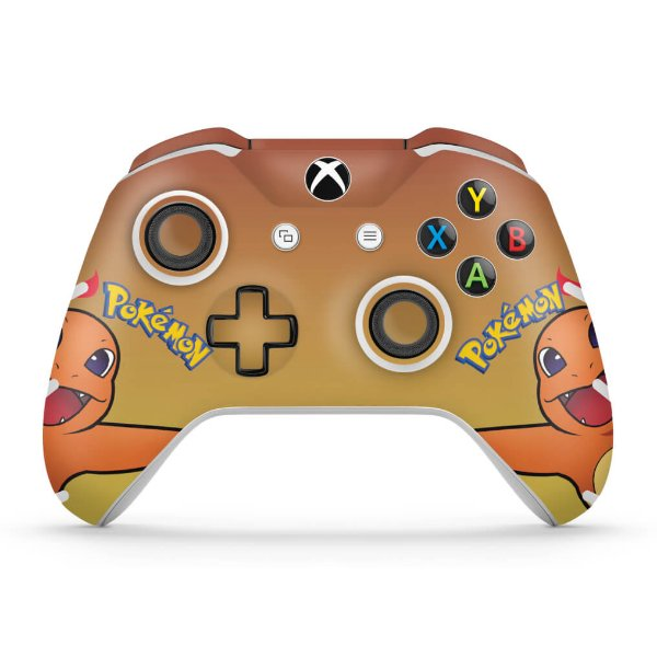 Skin Xbox One Slim X Controle - Pokemon Charmander